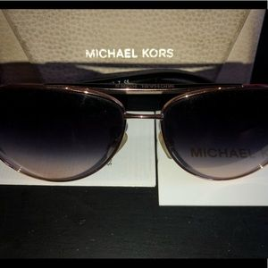 Michael Kors rose gold and black glasses